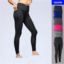 2019 Sexy Femmes pyjamas coréens avec Poche Collants Taille Haute Sport  leggings de gym Femme En Plein Air Formation pantalons d. c77b018d7f5