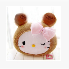 1pcs 40*38cm Kawaii Biscuit Hello Kitty Stuffed Back Cushion Pillow Throw Pillow Plush Toy