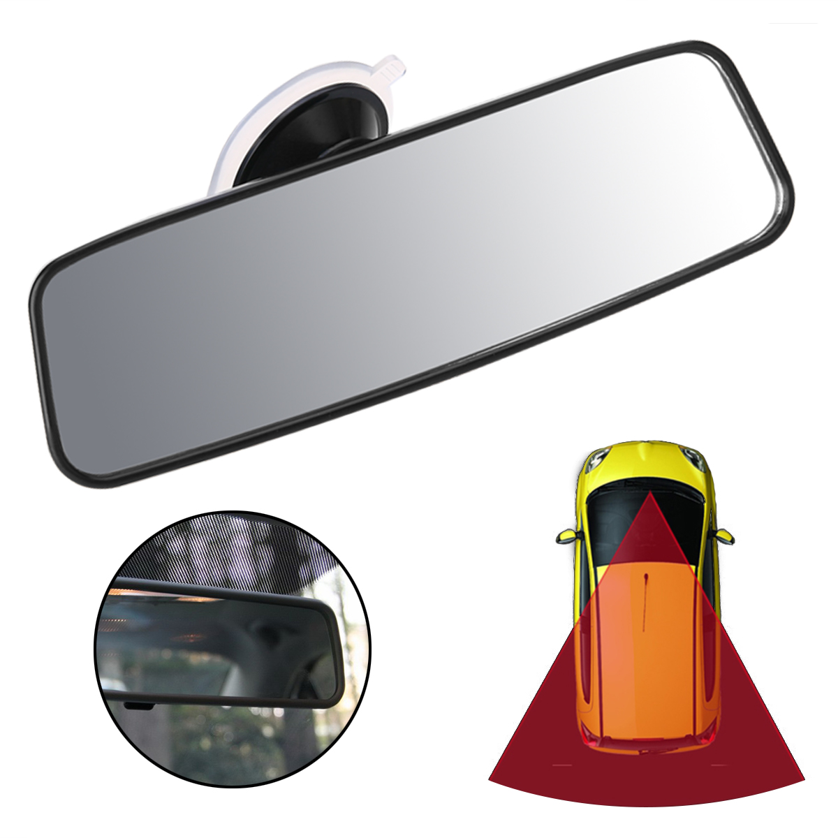 10/'/' Universal Learner Interior Rear View Windscreen Mirror Car Van Bus Camper