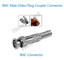 100PCS  No welding BNC Male Video Plug Coupler Connector Adapter bnc connector