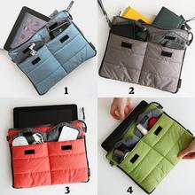 28*21cm fashion multi pockets PAD phone case Handbag Hot Useful Multifunction Tablet PC Storage Bag Organizer(China)