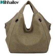 2017 Hot Sale Women's Handbag Fashion Design Canvas Women Bag Ladies Tote Bag Solid Shoulder Bag Travel Bag Bolsos Mujer XS-60(China)
