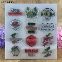 Spring Best Offers Happy Spring Best Scrapbook DIY photo cards account rubber stamp clear stamp transparent stamp  15*16 CM