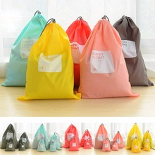 Hot 4 pcs / lot Waterproof Travel Storage Bags Travel Shoe Makeup Organizer Laundry Bag Underwear Cosmetics XS S M L OB
