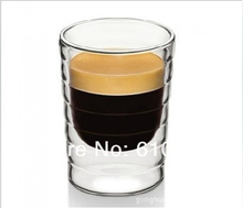 6pcs/lot Caneca hand blown double wall whey protein canecas Nespresso coffee mug espresso coffee cup thermal glass 85ml