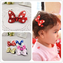 1 PCS 2017 New Fashion Wave Point Bow Hairpins Girls Hair Accessories Children Headwear Baby Hair Clips Headdress