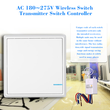 AC 180~275V Wireless Switch Transmitter Switch Receiver Controller No Wiring Remote Control Waterproof For House Lighting