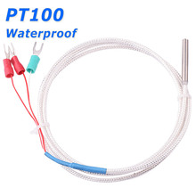 Waterproof 3 Wire PTFE Cable PT100 RTD Resistance Temperature Detector Thermal Sensor Probe for Water Oil Temperature Controller(China)