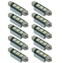 10PCS 36mm 39mm C5W 3SMD 3 SMD 5050 LED CANBUS NO Error Festoon Bulb Car Licence Plate Light Auto Housing Interior Dome Lamp 12V(China)