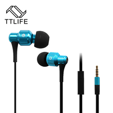 TTLIFE Original Stereo Super Bass Headphone Earphone Metal 3.5mm Earbud Headset For iPhone All Phone Samsung Computer