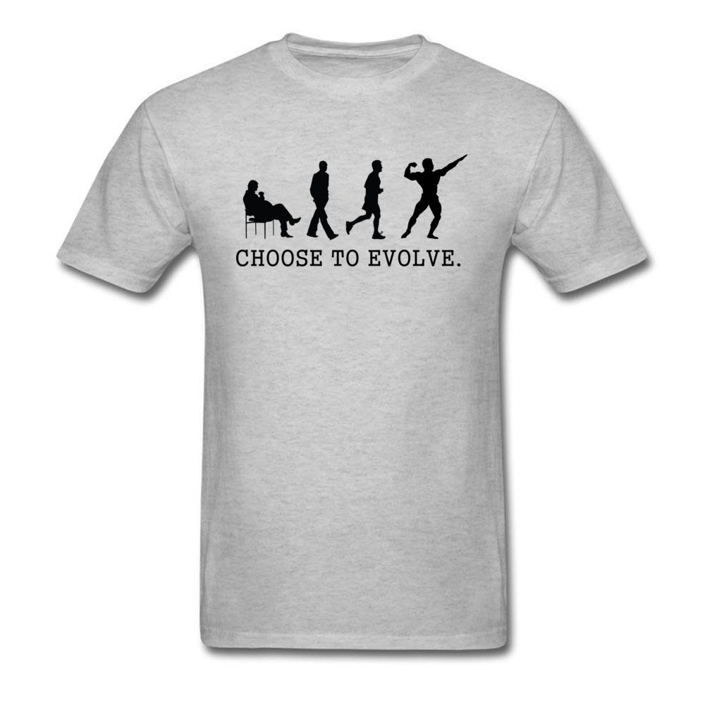 Choose to Evoe Tops Shirt Fashion O-Neck Printed Short Sleeve 100% Coon Fabric Student T Shirt Design Tee Shirts Choose to Evoe grey