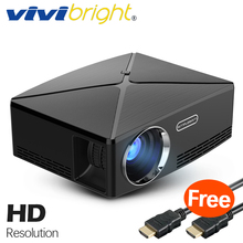 VIVIBRIGHT HD мини-проектор C80. 1280x720 Видео Proyector, Поддержка 1080 P (опционально C80. Android 6 проектор, WI-FI, Bluetooth)(China)