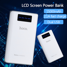 HOCO B3 15000mAh Power Bank portable LC display charger with flash light for all mobile phones, tablet PC,outdoor business use(China)