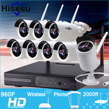 CCTV System 960P 8ch HD Wireless NVR kit Outdoor IR Night Vision IP Camera wifi  Camera kit Home Security System Surveillance