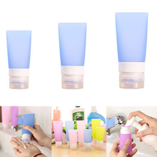 3pcs/set Sector Shaped Travel Bottles Squeezable & Refillable Travel Containers For Shampoo, Conditioner, Lotion, Toiletries()