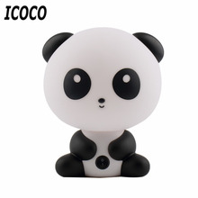 Luminaria Novelty Lamparas Lampe Cute Panda Cartoon Animal Night Light, Kids Bed Desk Table Lamp Sleeping led Night Lamp Gift(China)