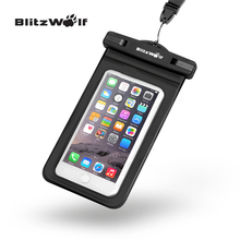 BlitzWolf BW-WB1 Universal IPX8 Waterproof Phone Case Dry Bag Pouch With Clip For All Up To 5.5 Inch Smartphones