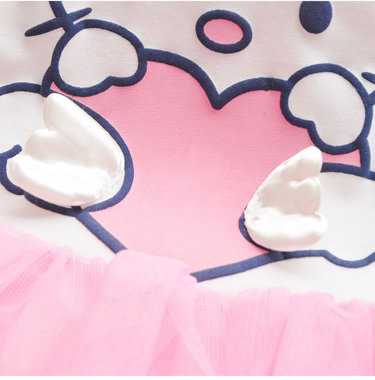 Baby Girls Cartoon Dress Hello Kitty Girls Dresses Kids Princess Clothing Girl Clothes Robe Enfant Cloth Children Party Clothes 11