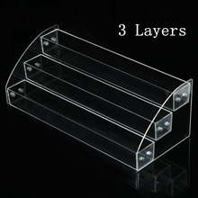 Acrylic Nail Polish Holder Varnish Stand Case Rack Clear Lipstick Removable Nails Display Organizer Storage Box Nail Art 7 Tiers(China)