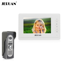 JERUAN 7`` TFT Color Video door phone Intercom  Doorbell System Kit IR Camera doorphone monitor Speakerphone intercom