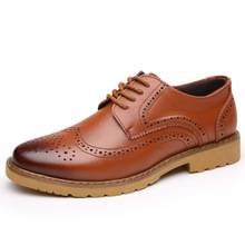 XINGYIDA Wingtip Black Mens Casual Shoes Leather Formal Wedding Dress Derby Oxfords Shoes Men Zapatos Hombre