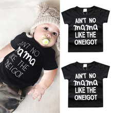 Hooyi Baby T-Shirt Infant Tee Shirt Mama 100% Cotton Toddler Tops Boy Clothes T Shirt Children Outfits 1 2 3 Year Soft Quality
