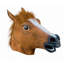 3 Colors halloween horse mask latex horse head animal masks Emulsion Party Masquerade Full Head Scary Mask(China)