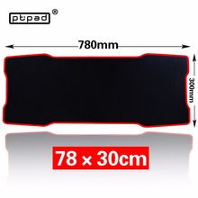 pbpad Large Gaming black mouse pad 780*300mm Plain Extended Anti-slip Natural Rubber mousepad Desk Mat Mouse Mat Keyboard Mat