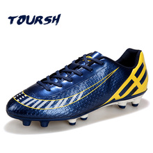 TOURSH High Quality Football Shoes Men&Children Outdoor Football Training Soccer Shoes Brand Leisure Series Soccer Cleats(China)