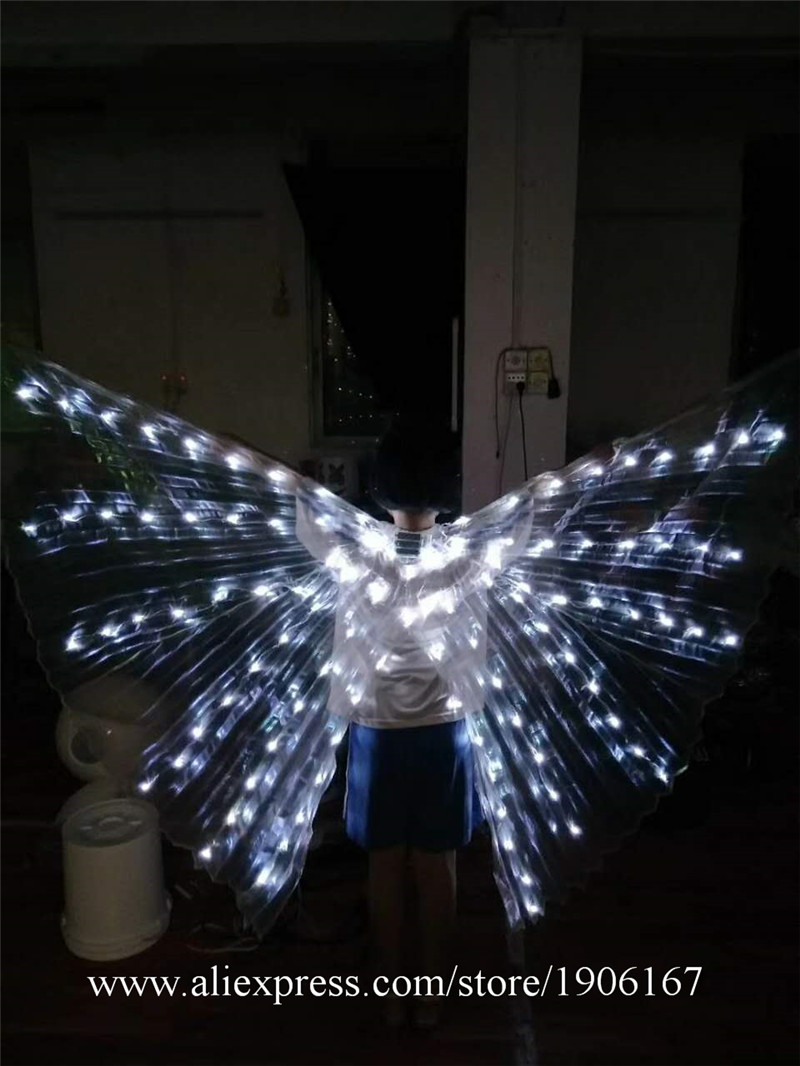 New Design Colorful Led Luminous Party Evening Dress LED Light Up ISIS Wings Flashing Stage Performance Clothes Ballroom Costume03