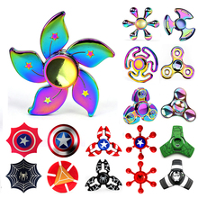 Buy Captain America Spinners Metal Fidget Spinner Super Hero EDC Tri Figet Spiner Superman Batman Spiderman Iron Man Finger Toy for $3.15 in AliExpress store