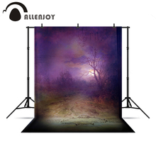 Allenjoy photographic background Mysterious Country Road Purple Magic Photophone a bag new Year