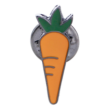 plant red carrot Enamel Pins Imitation food enamel Brooches Women Child Girl vegetable pin brooch hat suit Clothing Accessories