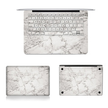 "Grey Marble Texture Laptop Body Decal Protective Skin Vinyl Stickers for Macbook Air Pro Retina 11"" 12"" 13"" 15 A1278 A1465 A1466"