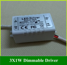 Dimmable LED Driver Ceiling Light Outside Drive 3X 1W 3W Power Transformer 10PCS(China)