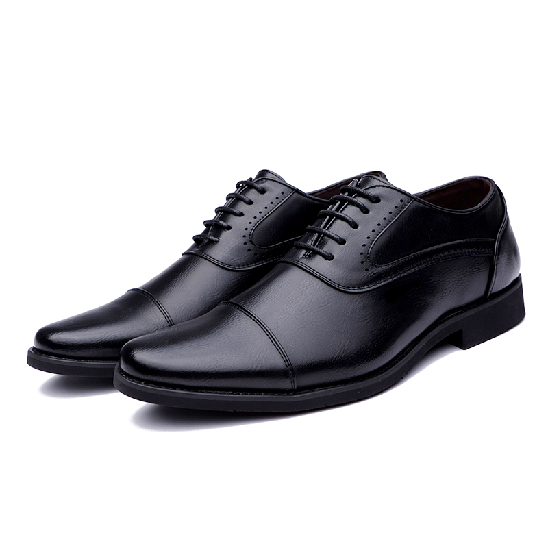 men spring working shoes luxury brand italian eurpean style pointed toe elegant male footwear dress working oxford shoes for men (9)