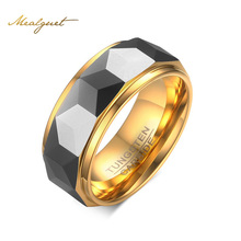 Meaeguet Facet Cut Prism Tungsten Carbide Party Ring For Men Jewelry USA Size 7-12