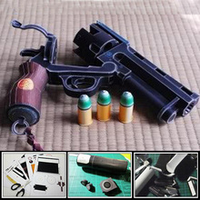 Paper Model Gun Hellboy Revolver With Bullets Simulation 1:1 Scale Firearm Magazine Adult 3D Puzzles Toy Free Shipping(China)