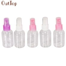 OutTop Best Deal Good Quality New 5Pcs Clear 50ml Empty Spray Bottle Travel Transparent Plastic Perfume Atomizer