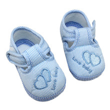 Kids baby shoes Nice Heart printed first walker Baby striped Infant Toddler Soft Sole Anti-Slip Newborn Shoes 0-12M(China)