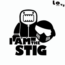 I AM THE STIG Vinyl Car Sticker Creative Cartoon Racing Driver Car Decal