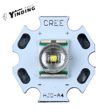 10pcs Cree XLamp XR-E XRE Q5 Warm White 2600-3700K 3W Hight Power LED Emitter Chip Blub Lamp Light 20MM PCB Heatsink(China)