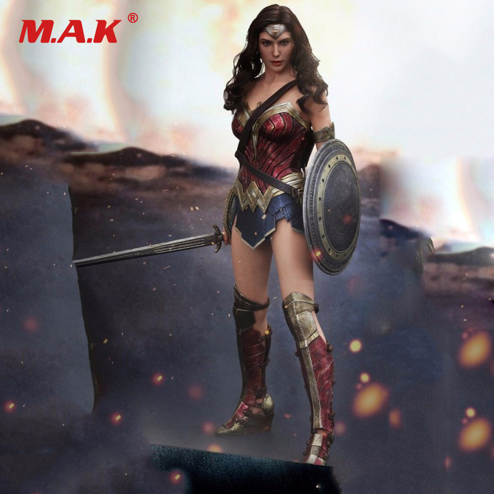 Hot Toy 1/6 Female Hot Toys MMS359 1:6 Dawn of Justice Wonder Woman Gal Gadot Figure Doll Model Body Figure<br>