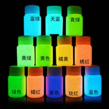 No Radiation Luminous Glow Powders Fluorescent Super Bright Glow In The Dark Powder Noctilucent Pigment DIY Art Paint 10g(China)