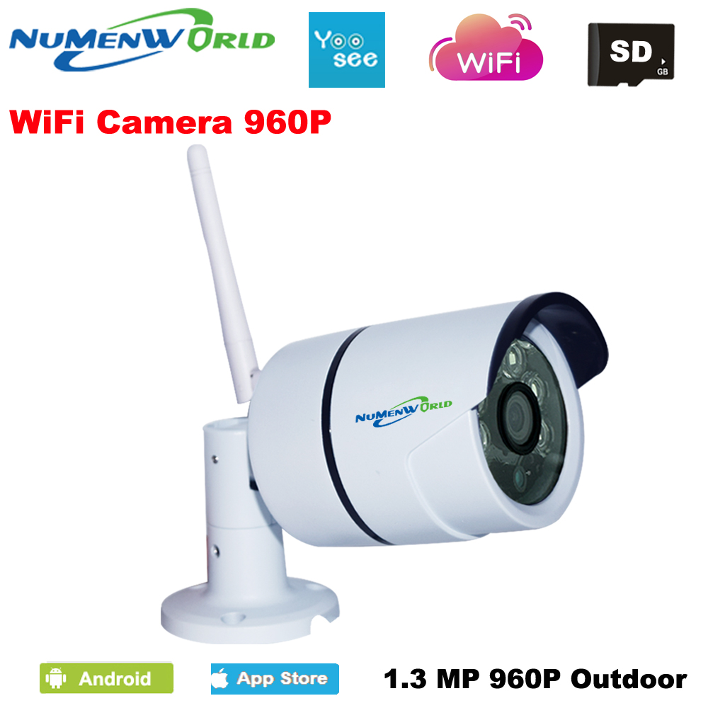 960P HD IP Camera Outdoor Night Vision ONVIF H.264 Motion Detection Email Alert Remote View Via Smart Phone support SD memory<br>