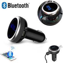 Hot Car Bluetooth MP3 Music Player Audio FM Transmitter Car Kit Wireless HandsFree With LCD TF Slot