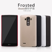 For LG G4 Case NILLKIN Super Frosted Shield Plastic Back Case Cover For LG G4 Hard Protective Cases Black + Screen Protector