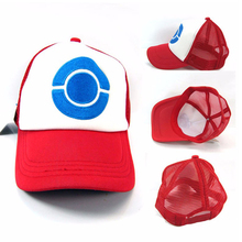 Wholesale Pokemon Go Ash Ketchum Baseball Snapback Cap Trainer Hat For Adult Many Styles For You Choose(China)