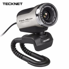 TeckNet 1080P HD Webcam with Built-in Microphone