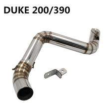 motorcycle middle of the exhaust pipe muffler exhaust pipe Exhaust Muffler for KTM DUKE 200 250 390 DUKE200 DUKE250 DUKE390 DUKE